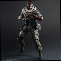 50.00$  Buy here - http://aligm0.worldwells.pw/go.php?t=32688201737 - 2016New Arrival Play Arts KAI Metal Gear Solid SNAKE desert tiger Old Snake PVC Action Figure Collectible Model Toys Gift PA0015