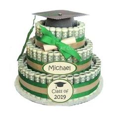 Graduation Gifts : Graduation Money cake creative gifts for grads gifts grads love creative ways Best Graduation Gifts, Graduation Diy, Grad Gifts, Diy Gifts, Graduation Parties, Graduation Decorations, Graduation Gift Baskets, Unique Gifts, Cap Decorations
