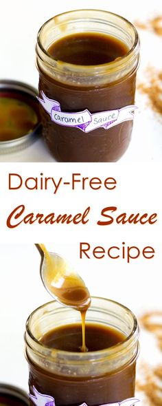 Vegan Caramel Sauce Recipe - dairy-free, gluten-free, soy-free and ready in 10 minutes! Vegan Sweets, Vegan Desserts, Vegan Recipes, Vegan Foods, Healthy Foods, Dairy Free Caramel Sauce Recipe, Recipe Soy, Vegan Sauces, Vegan Dishes