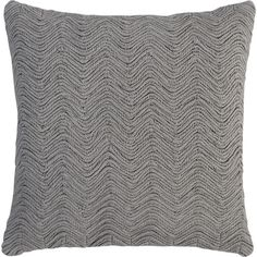 "Braid Ash 18"" Pillow in Decorative Pillows 