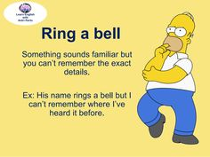 Idiom ~Ring a bell~ #LearnEnglish @AntriParto