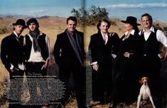 """""""The Dynasty"""" The Hustons: Jack, Matthew, Danny, Allegra, Angelica and Tony. Photography by Annie Leibovitz for the Vanity Fair Hollywood issue, November 2003."""