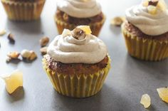 Hazelnut Autumn Spice Cupcakes | A wonderful fall flavored dessert, these hazelnut cupcakes are topped with a sweet autumn spice buttercream. They are grain free and perfect for snacking. @vssMichelle
