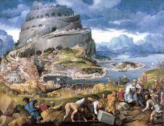 Círculo de Maarten Van Hemskerck | La torre de babel | s.f. | Óleo sobre tela | 139 x 181 cm