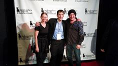 Truly Magyar on the Red Carpet with Creative Actors Alliance members, Michael Gavino and Zander Villayne at the screening for Gavino's film, For the Greater Good in Santa Monica, CA