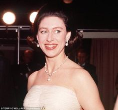 Reverend Jack Kellet recalled how Prince Margaret (pictured) wore an 'extremely low' cut w...