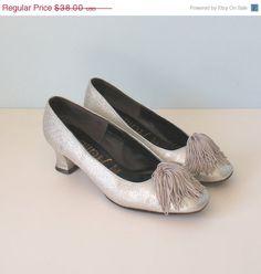 50% Off SALE Vintage 1960s Silver Metallic Mod by FoxyBritVintage