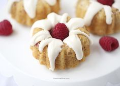 Mini raspberry bundt cakes with cream cheese glaze -these super soft soft and full of the most delicious flavors! A must make! These are one of those desserts that are so good you've got to share them or you may be tempted to eat the whole pan. Literally. I'm thinking they would be the perfect …