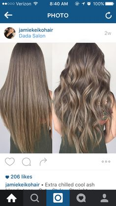 Cool Ash Blonde Blonde Ighlights On Brown Air Straight, Balayage, Ombre Ash Blonde Hair, Brunette Hair, Ombre Hair, Balayage Hair, Dark Hair, Short Balayage, Blonde Curls, Brunette Color, Hair Beauty