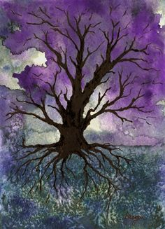 Tree of Life Art - Gothic Landscape Nature Painting