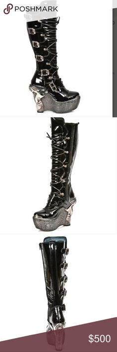 BRAND NEW! New Rock Acero knee high boot. BRAND NEW IN ORIGINAL BOX . New Rock Acero knee high boot. Genuine leather. Custom made . New Rock Shoes Heeled Boots