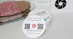 QR code on your business card ... just enter your url and download the image: http://www.qrstuff.com/