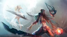 League of Legends - Irelia vs. Janna by EwaLabak.deviantart.com on @deviantART