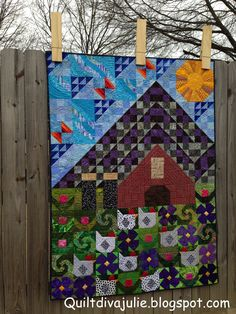 Rise and Roost - my liberated and modified version of the Old MacDonald Mystery Sampler quilt along.