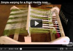 Lots of great videos on how to use my loom from Ashford.