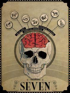 "David Fincher's ""Seven"" 18 x 24 Movie Poster"