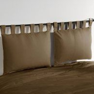 pillow headboard hmmm... haven't decided yet if i like it, but an interesting concept