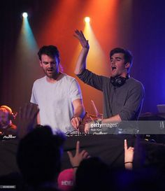 NYC based DJs Andrew Taggart and Alex Pall of The Chainsmokers perform at the MTV Artist To Watch Event With Flume and The Chainsmokers at Highline Ballroom on April 14 2014 in New York City. Chainsmokers, Andrew Taggart, The Power Of Music, Music Is My Escape, Alesso, Band Pictures, Music Like, Coldplay, Celebs