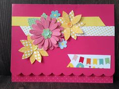Card: layered flowers all-occasion card