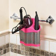 Polder® Style Station™ Hair Care Storage in Pink - BedBathandBeyond.com