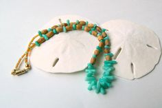 Seafoam Green Coral Wooden Beads Choker Necklace Wood Beads Beaded Choker Wooden Beaded Necklace Coral Necklace Coral Jewelry Real Coral by LovesShellsBeads on Etsy