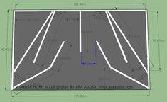 √ Skema Box WONDER Horn W218 Subwoofer Mantap - ARA AUDIO Diy Subwoofer, Subwoofer Box Design, Speaker Box Design, Speaker Plans, Audio, Diy Speakers, Loudspeaker, Planer, Technology