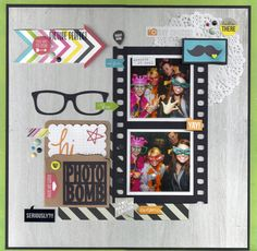 Photo Bomb - Scrapbook.com - Made with Simple Stories DIY collection.