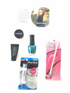 October 2014 Beauty Box 5 Effortless Allure Box. #beautybox5 #chapstickplease #bellapierre #spattydaddy #nanacoco #lashem