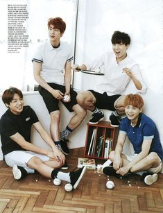 BTS/Bangtan Boys Jungkook Jin J-Hope Suga [SCAN] Céci May '15   Cr: Hide and Seek