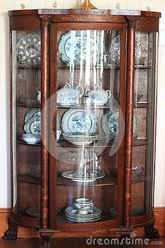 Antique China Cabinet Stock Images - Image: 34910414