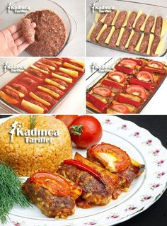 Baked Rice Meatball Recipe, How To - Womanly Recipes - Delicious, Practical and Delicious Food Recipes Site - Baked Rice Meatballs Recipe - Meatballs Recipe Fried, Baked Meatball Recipe, Meatballs And Rice, Chicken Meatball Recipes, Lunch Recipes, Meat Recipes, Cooking Recipes, Swedish Cuisine, Baked Rice