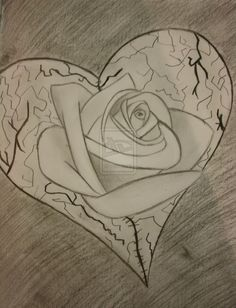 Broken heart pencil drawing couple image heartbroken drawing at . Heart Pencil Drawing, Pencil Art Love, Cute Heart Drawings, Broken Heart Drawings, Pencil Drawings Of Love, Color Pencil Sketch, Broken Rose, Heart Broken, Rose Heart Tattoo