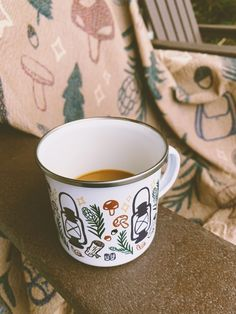 There are few things more dear to me than my morning cup of coffee. Sipping it out of this enamel camp style mug gives me alllllll the good feelings. ☕️ Forest Adventure, New Forest, Wood Ornaments, Greatest Adventure, Constellations, Letterpress, Give It To Me, Stationery, Enamel