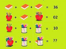 Picture math puzzle for adults