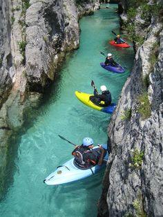 Soča River, Slovenia by kayak