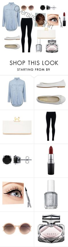 """Oversized Shirt"" by ipyanamwasambili on Polyvore featuring Topshop, DIENNEG, Ted Baker, NIKE, BERRICLE, MAC Cosmetics, Luminess Air, Essie, Linda Farrow and Gucci"