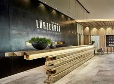 Amazing Wireflow Lineal at the Lürzerhof hotel in Obertauern, Austria. Collaboration with Franke Leuchten. : Amazing Wireflow Lineal at the Lürzerhof hotel in Obertauern, Austria. Collaboration with Franke Leuchten. Hotel Reception Desk, Reception Desk Design, Lobby Reception, Reception Counter, Hotel Lounge, Hotel Lobby Design, Office Interior Design, Office Interiors, Office Designs