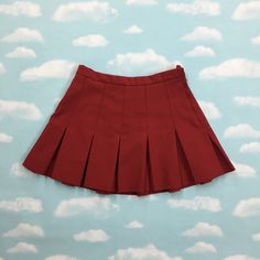 Vintage 90's Maroon Highwaisted Tennis Skirt by TailsFromTheCrypt