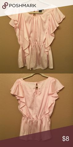 Pink Ruffle Blouse by Willi Smith Super girly light pink blouse with lots of ruffles! Just in time for spring. Willi Smith Tops Blouses