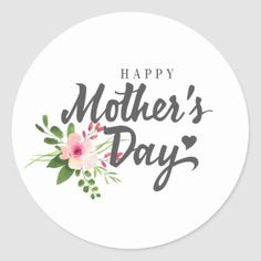 Pretty Floral Wreath Happy Mother's Day Classic Round Sticker   Zazzle.com Happy Mothers Day Images, Happy Mothers Day Wishes, Happy Mother's Day Card, Mothers Day Special, First Mothers Day, Mothers Day Quotes, Mothers Day Cards, Happy Day, Mom Cards