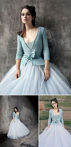 Keira Knightley in tulle. she makes it look so good. i love the sweater/tulle skirt combo! Keira Christina Knightley, Keira Knightley, Robes Glamour, White Wedding Dresses, Something Blue, Mode Inspiration, Mode Style, Dress Me Up, Pretty Dresses