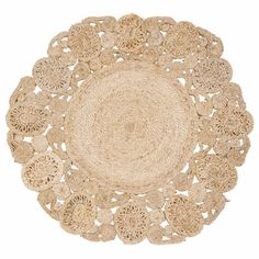 Tapis rond en jute D 90 cm KUTA Kuta, T 4, Decorative Bowls, Textiles, Crafts, Inspiration, Home Decor, Houses, Pillows