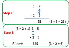Multiplication of 2-digit number by a 2-digit number 1