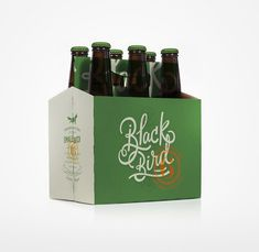 Creative Branding, Beer, Green, Blackbird, and Simplicity image ideas & inspiration on Designspiration Cool Packaging, Food Packaging Design, Coffee Packaging, Bottle Packaging, Packaging Design Inspiration, Branding Design, Chocolate Packaging, Beer Label Design, Green Beer