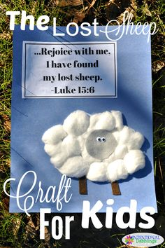 A fun and easy sheep craft for kids to help them remember the Parable of The Lost Sheep. Cotton ball sheep with googly eyes are adorable and cheap! Sunday School Crafts For Kids, Bible School Crafts, Bible Crafts For Kids, Sunday School Activities, Sunday School Lessons, Preschool Church Crafts, Toddler Church Crafts, Children's Church Crafts, Bible Activities For Kids