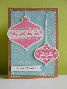 Card with WMS Nordic bauble stamps