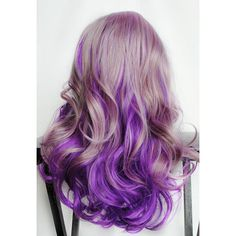 Spring SALE - Lilac Frost // Lavender Pastel Purple Ombre Hair //... ($96) ❤ liked on Polyvore
