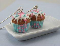 miniature food earrings