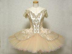 cream tutu www.theworlddances.com/ #costumes #tutu #dance
