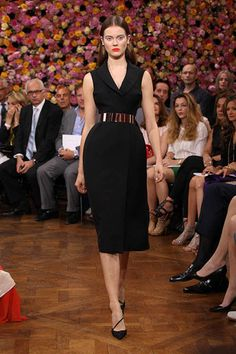 Dior Haute Couture Autumn-Winter 2012 – Look 4: black wool crepe tuxedo dress. Discover more on www.dior.com  #Dior #PFW